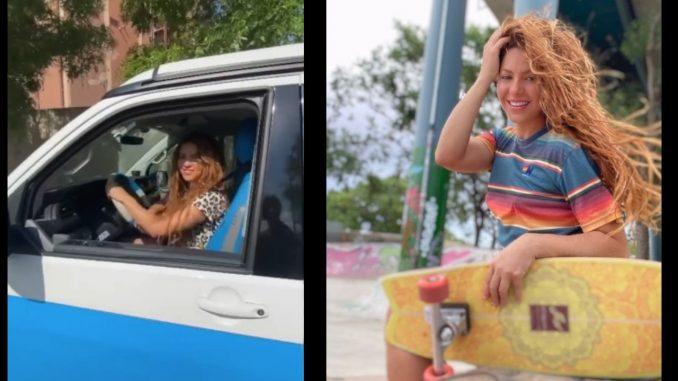 [Video] Shakira mostró lo que lleva en su carro