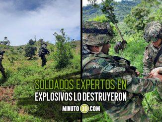 Soldados encontraron instalado un artefacto explosivo de alto poder en Turbo