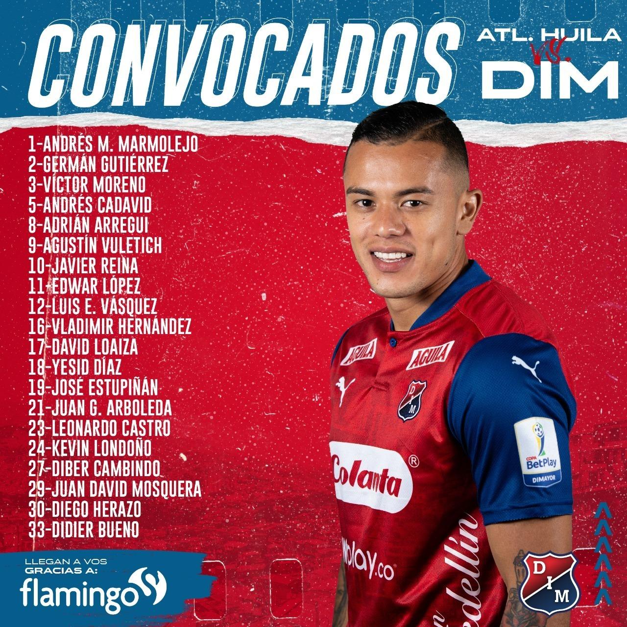 Viajeros Medellin para el partido de la fecha 7 de la Liga BetPlay 1