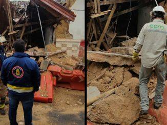 Colapsó una vivienda abandonada en Rionegro