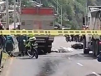 Fatal accidente en la vía al túnel de Occidente dejó un motociclista muerto