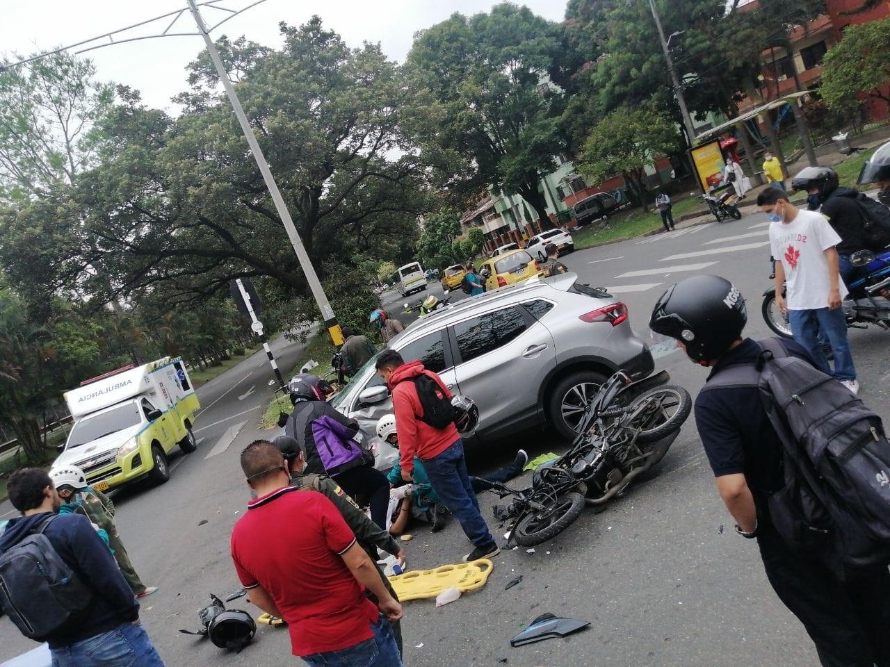 accidente la 70 herido moto 1