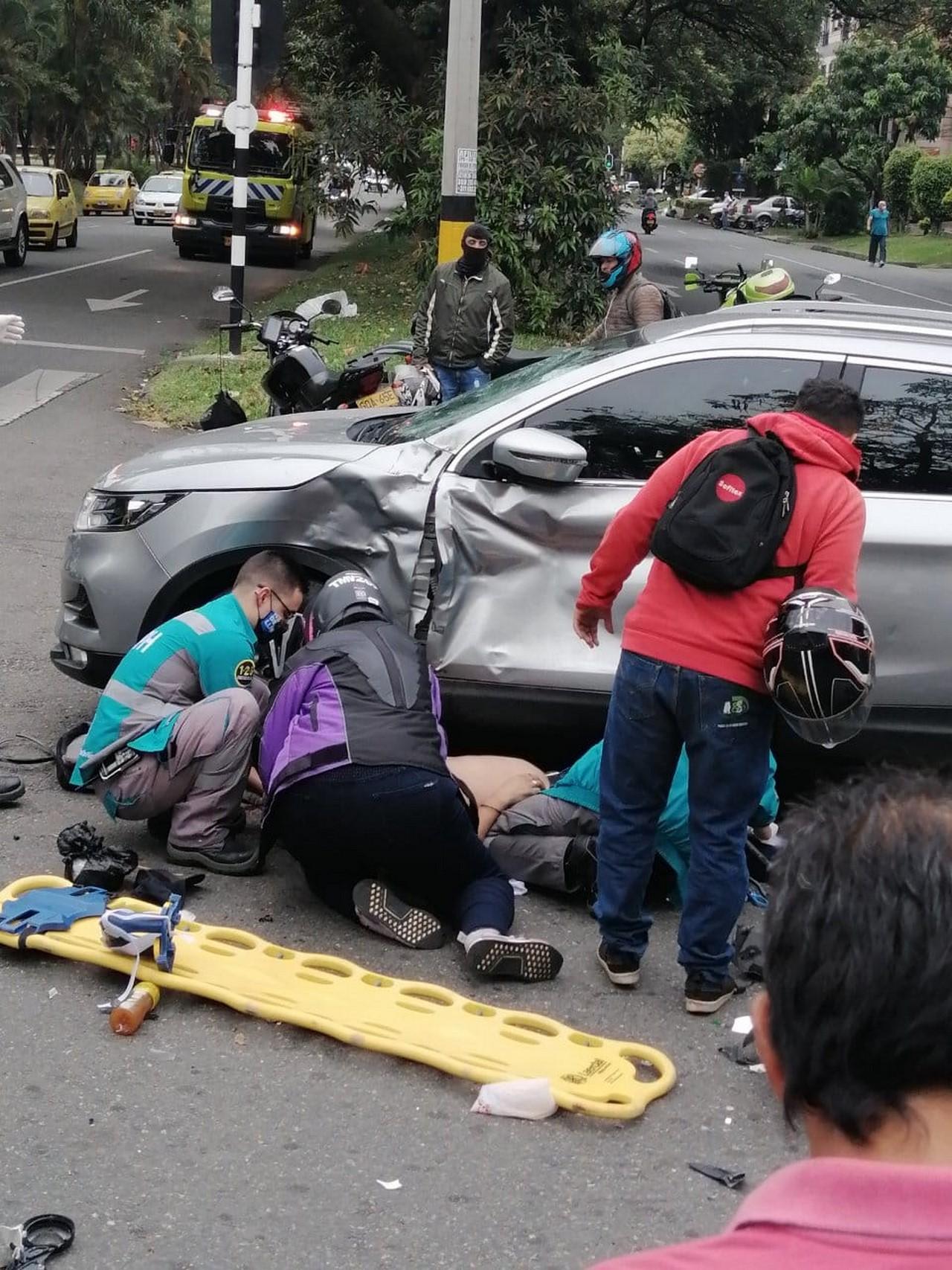 accidente la 70 herido moto 2