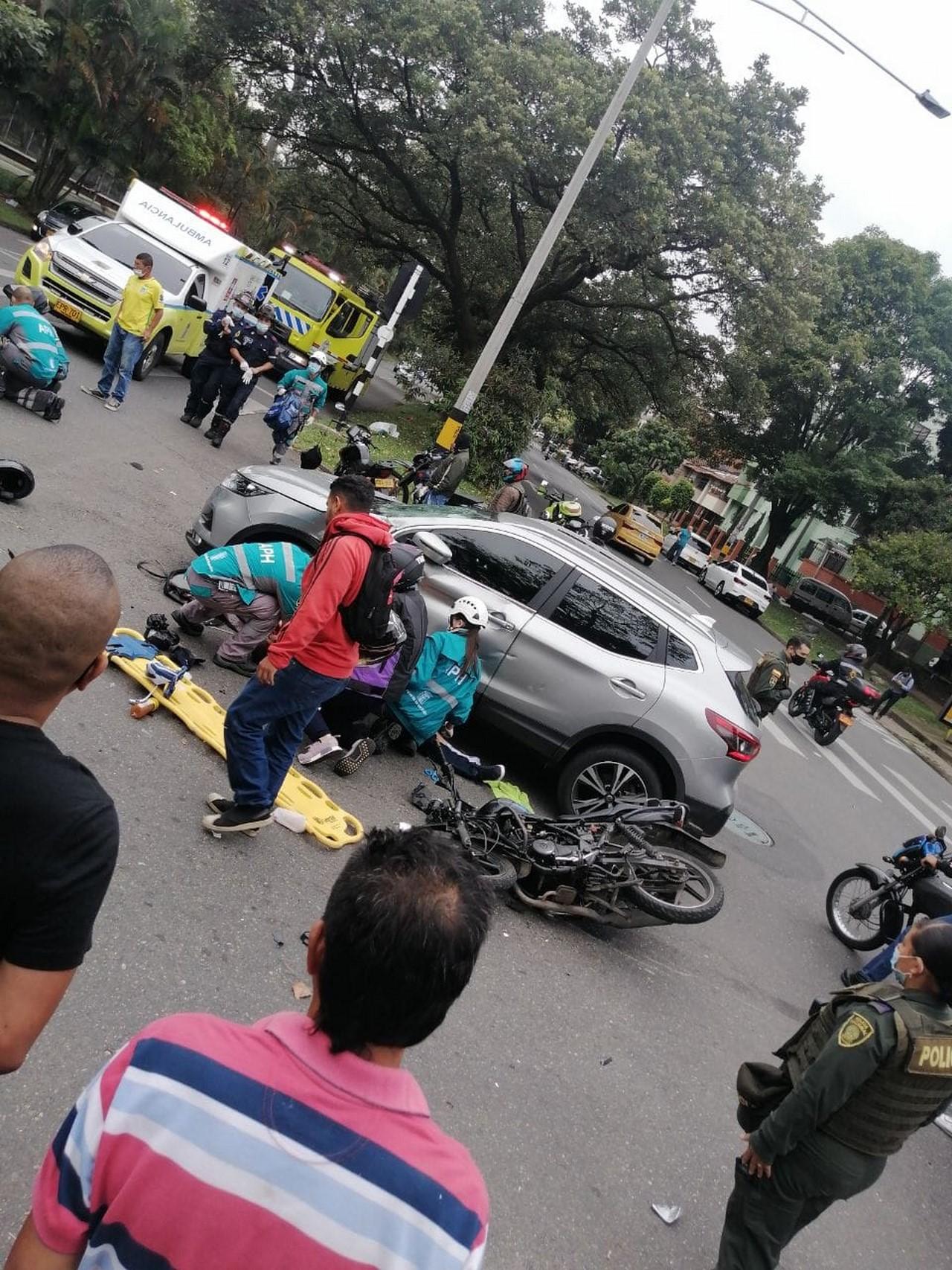 accidente la 70 herido moto 3