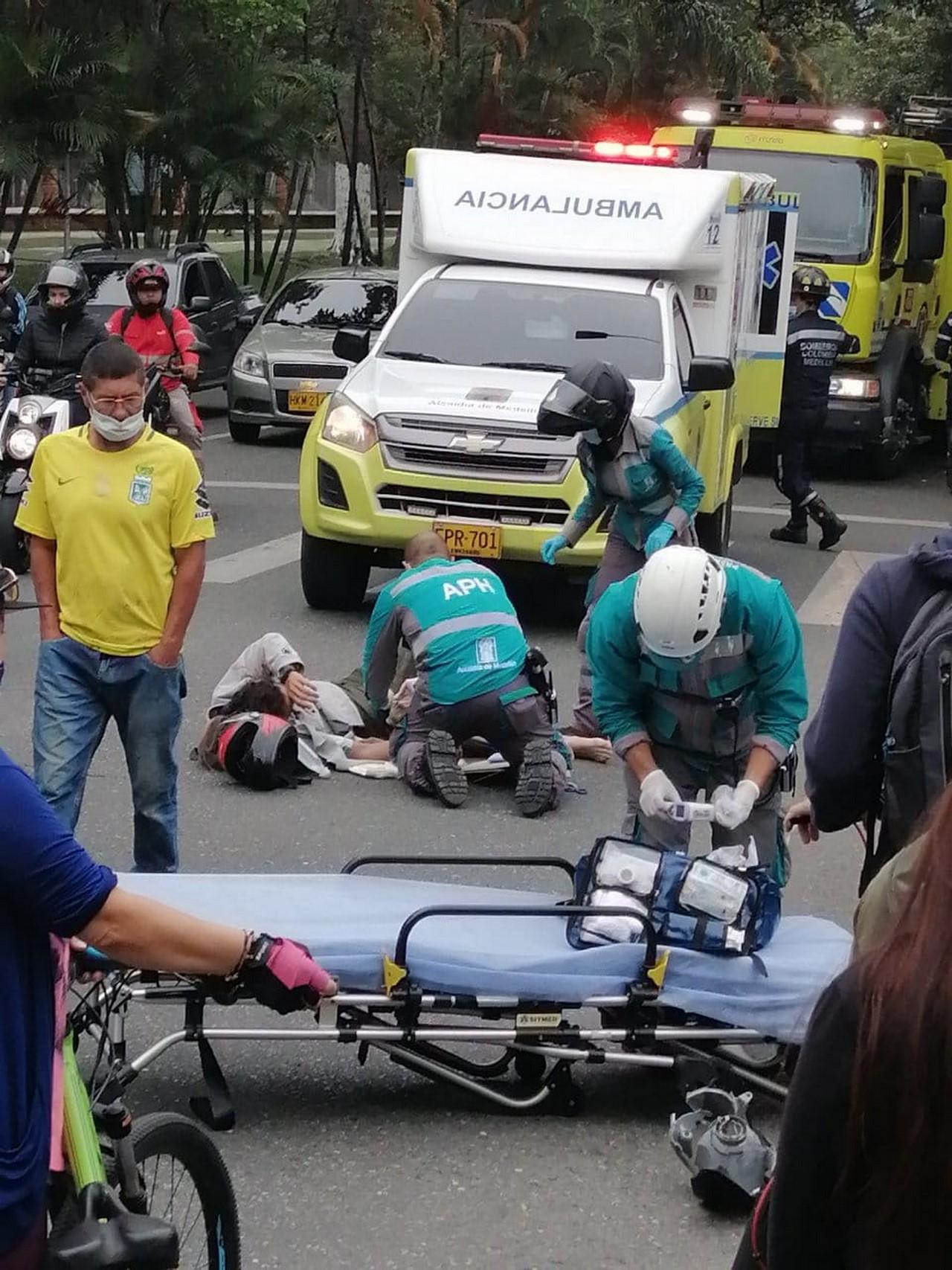 accidente la 70 herido moto 4