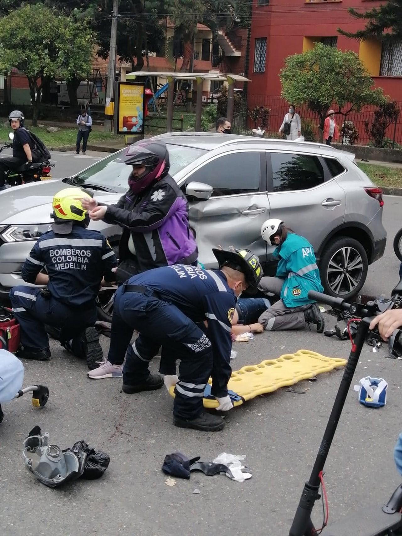 accidente la 70 herido moto 5