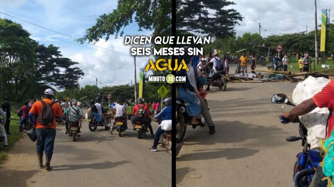 Cerraron la vía Necoclí-Arboletes en protesta por falta de agua