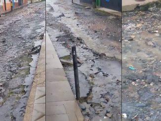 Denuncian mal estado de calle en Sonsón