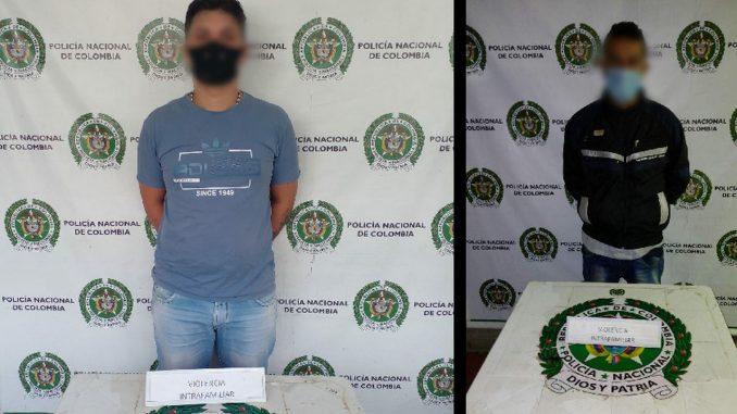 A estos dos los cogieron por violencia intrafamiliar en Medellín