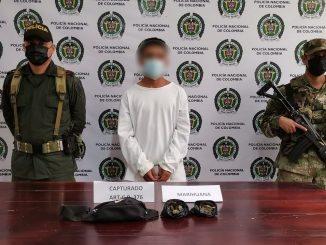 Capturado en Guadalupe con bolsas llenas de marihuana