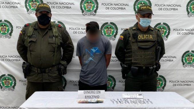 'Agarraron' a presunto expendedor de estupefacientes en La Pintada