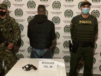 Capturado en Nariño, Antioquia con un revólver