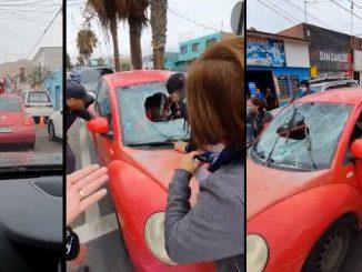 carro pelea calle chile