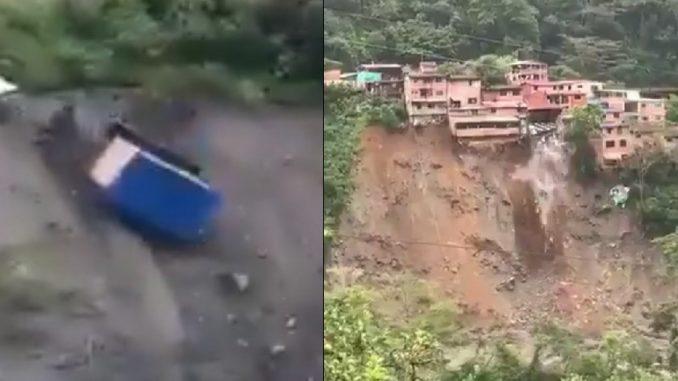 Casas se desplomaron en Guayabetal