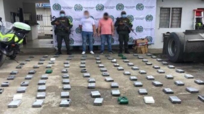Incautaron más de 100 kilos de coca en la cabina de un tractocamión