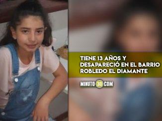 Menor desaparecida en Robledo El Diamante