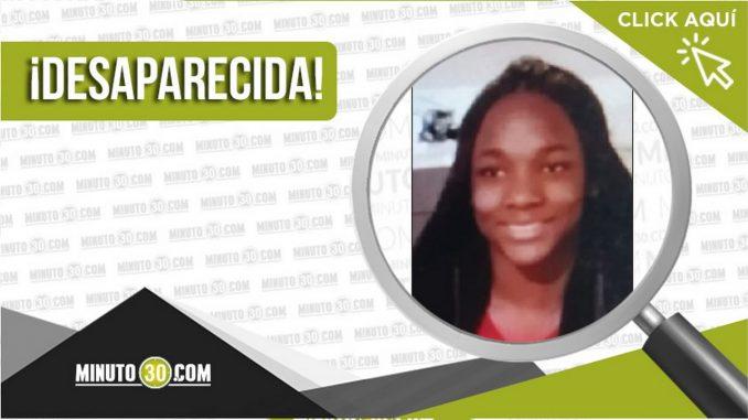 na Sofía Blandón Chaverra desaparecida