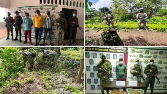 Duro golpe al primer eslabón del narcotráfico en el Suroriente Colombiano