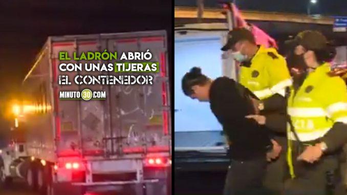 Video: ¡Robo de película! Ladrón se montó a un camión en movimiento para sacar cajas