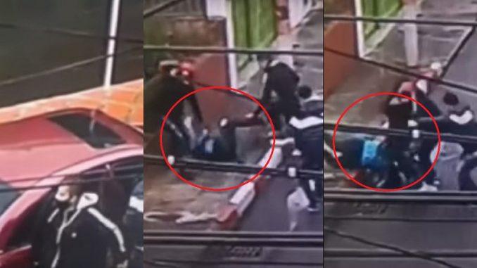 Mujer fue atacada y atracada por los del carro rojo