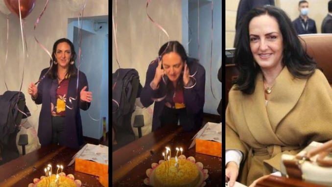 """[Video] """"Quiero ser Presidente de Colombia"""": Este fue el deseo que pidió María Fernanda Cabal en su cumpleaños"""