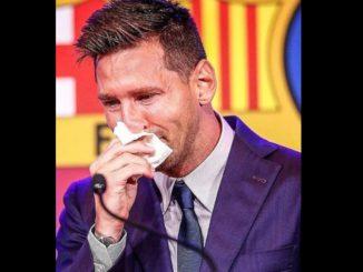 [Video] El llanto y tristeza de Messi al despedirse del Barcelona