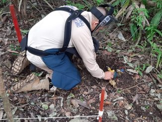Entregan cuatro áreas libres de minas antipersonal