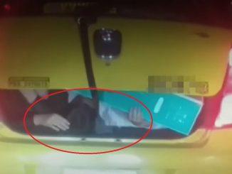 Pillaron a un taxista transportando dos niñas en el baúl