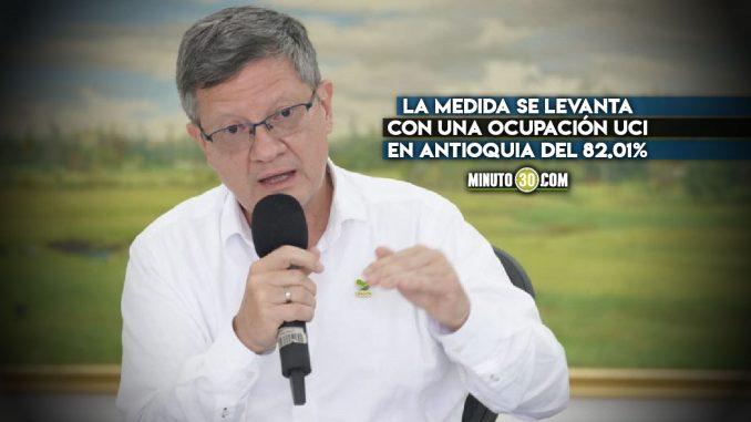 """A partir de mañana se levanta la alerta roja hospitalaria"": gobernador (e) de Antioquia"