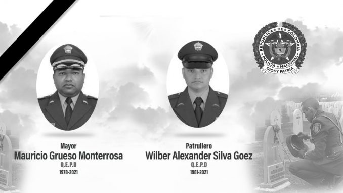 Policías que murieron en atentado en el Occidente antioqueño