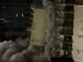 primeros videos derrumbe edificio miami