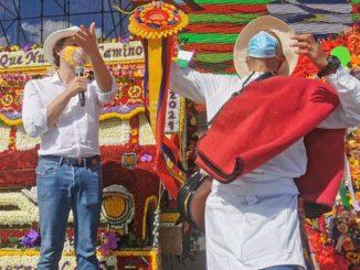 Luis Felipe Londoño, de la vereda El Placer, fue el ganador del Desfile de Silleteros