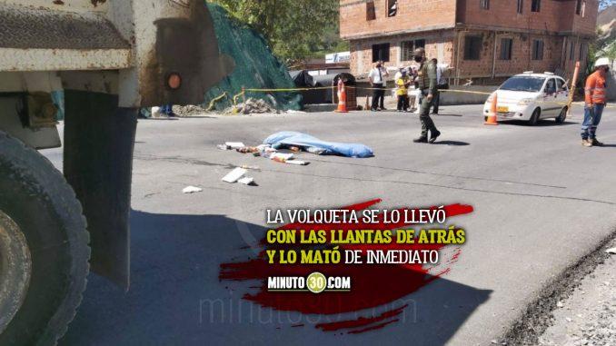 Vendedor ambulante murió atropellado por una volqueta en Cisneros