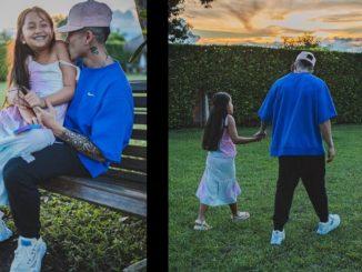[Video] ¡Qué ternura de papá! Andy Rivera se dejó ver muy tierno al lado de su hija