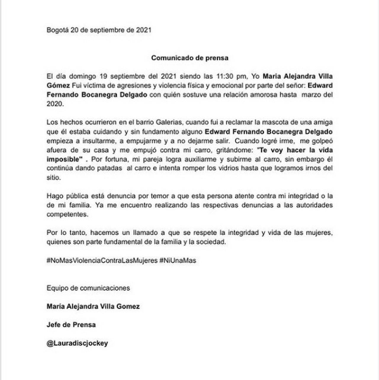 Alejandra Villeta denuncia a hombre1