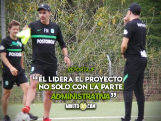 Alejandro Restrepo conto como vive la presencia del presidente del equipo en las practicas