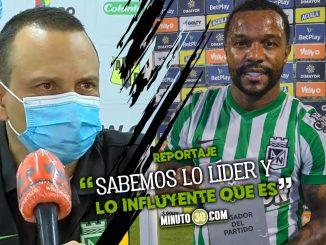 Alejandro Restrepo orgulloso de tener a Dorlan Pabon en Nacional