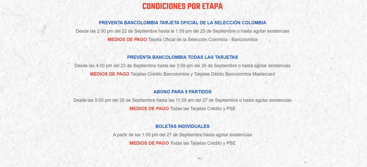 Boleteria Seleccion Colombia 1