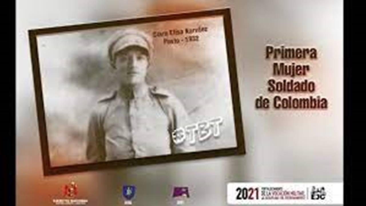 Clara Narvaez 1a mujer soldado de Colombia
