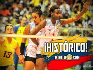 Colombia clasifico al mundial de mayores de voleibol femenino