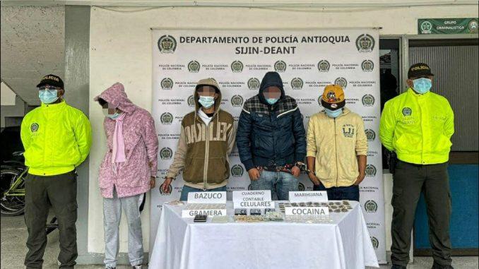 Estos estarían dedicados al 'menudeo' de drogas en Rionegro