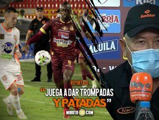 Entrenador de Envigado FC cuestiono el arbitraje y el juego del Tolima