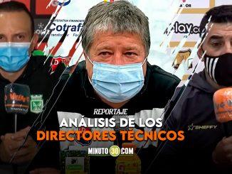 Entrenadores de Nacional Medellin y Aguilas hablaron tras los partidos de Copa