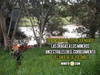 Hay bloqueos en vías de Antioquia por paro de mineros