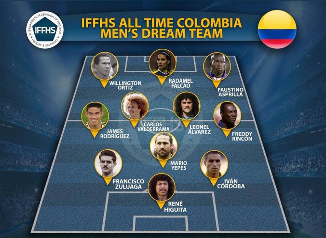 IFFHS dio a conocer el once ideal de la Seleccion Colombia en la historia