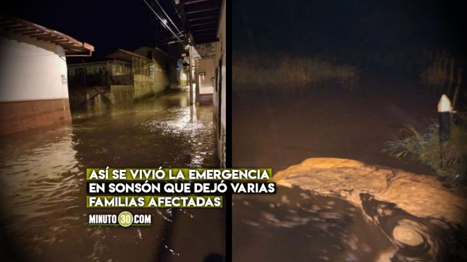 Sonsón se inundó por las fuertes lluvias