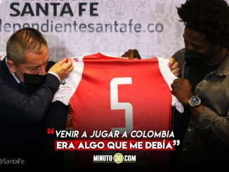 Independiente Santa Fe presento oficialmente a Carlos Sanchez
