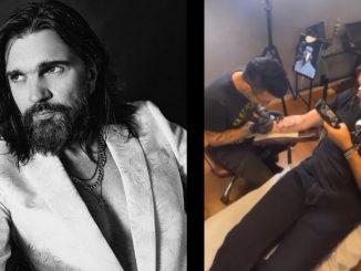 Juanes se 'tatuó' el rostro de su madre