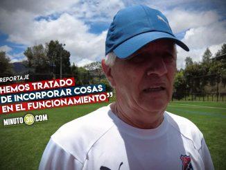 Julio Comesana veo progreso en los entrenamientos del DIM