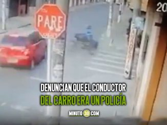 mujer accidente